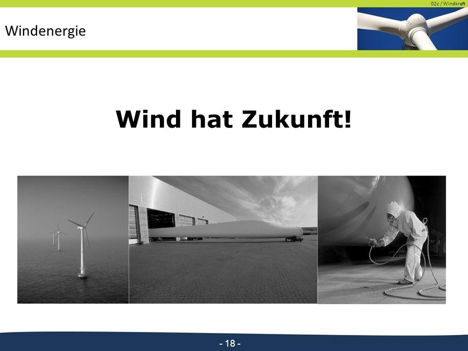 02c / Windkraft - 18 - Wind hat Zukunft!