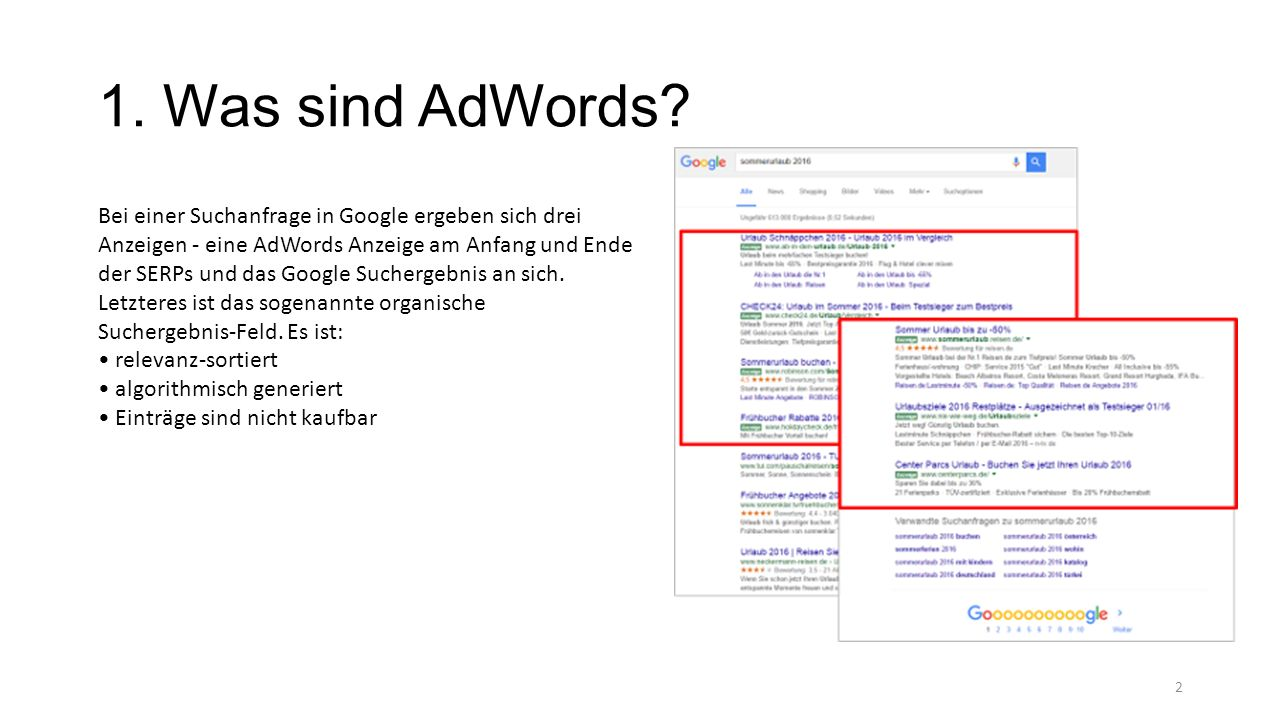 1. Was sind AdWords.