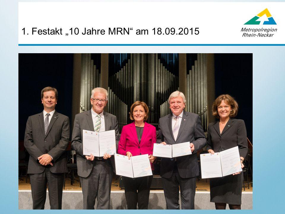 """1. Festakt """"10 Jahre MRN am 18.09.2015"""