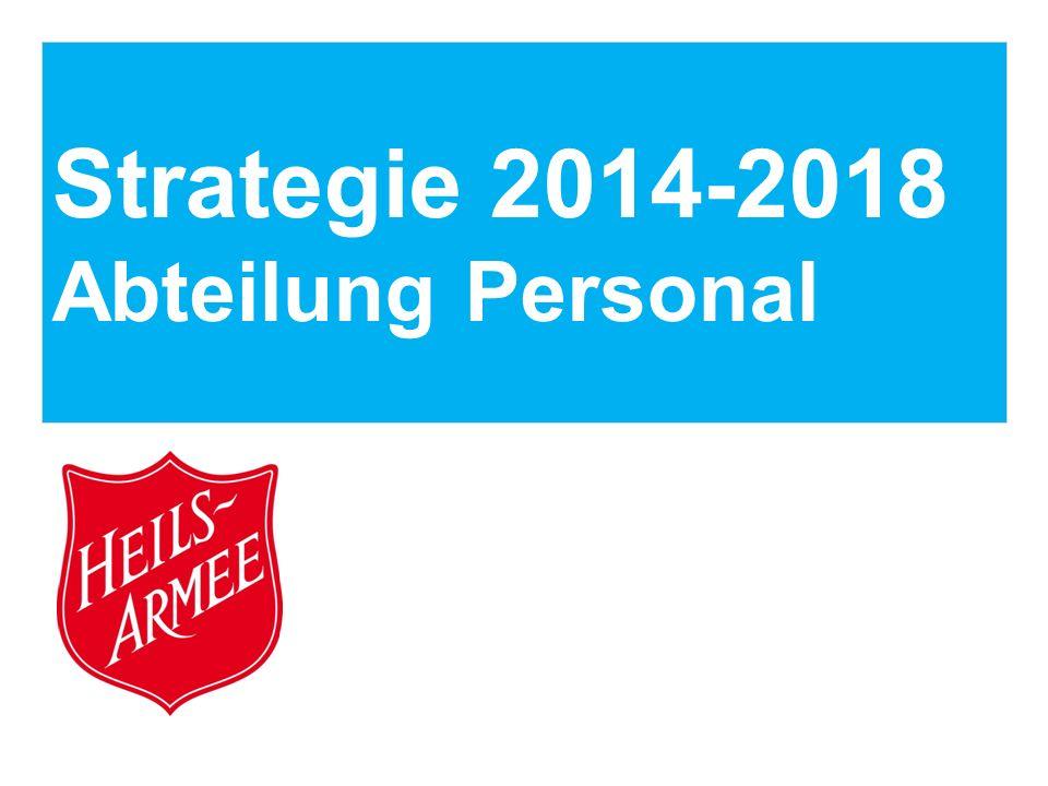 Strategie 2014-2018 Abteilung Personal