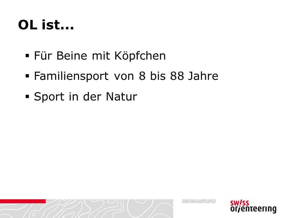 OL ist...  Für Beine mit Köpfchen  Familiensport von 8 bis 88 Jahre  Sport in der Natur