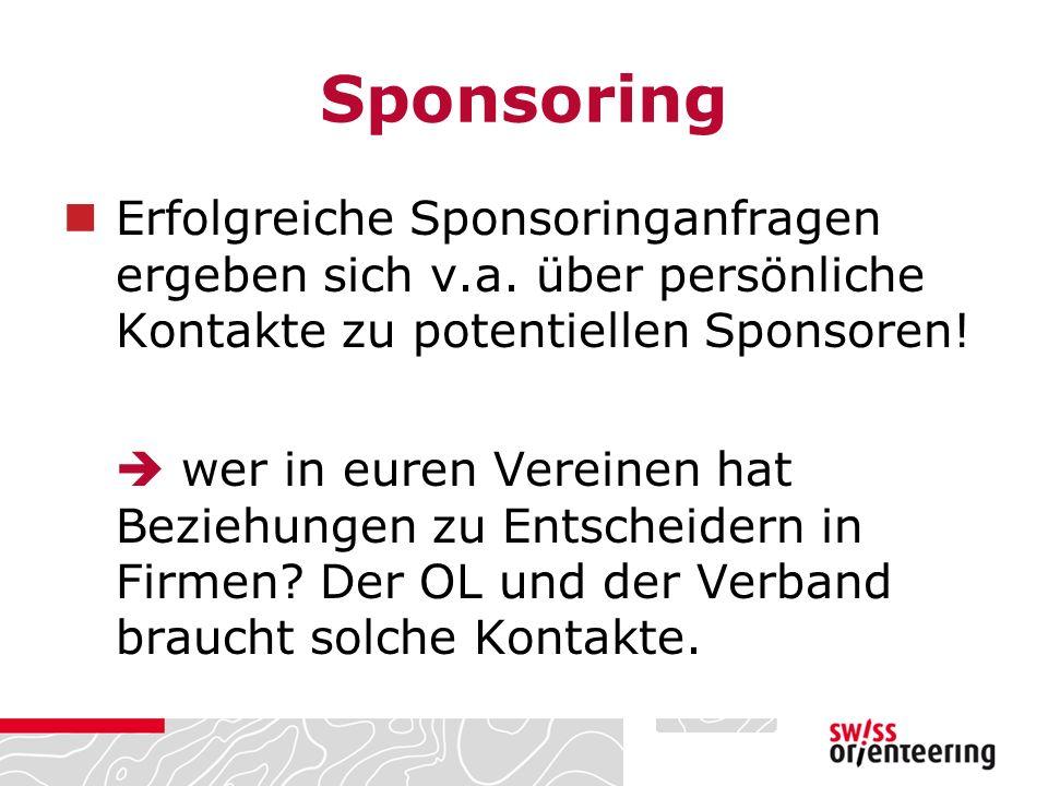 Erfolgreiche Sponsoringanfragen ergeben sich v.a.