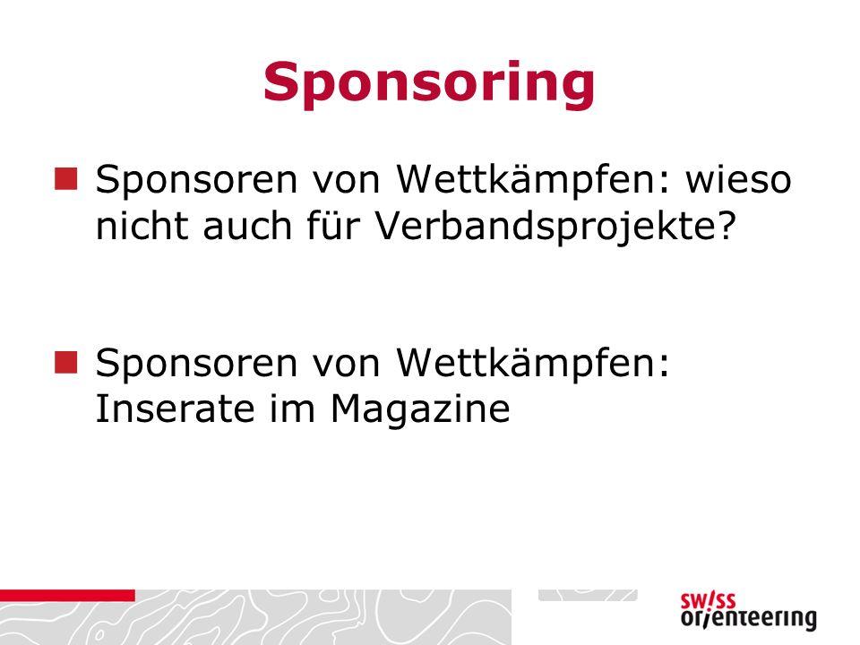 Sponsoring Sponsoren von Wettkämpfen: wieso nicht auch für Verbandsprojekte.
