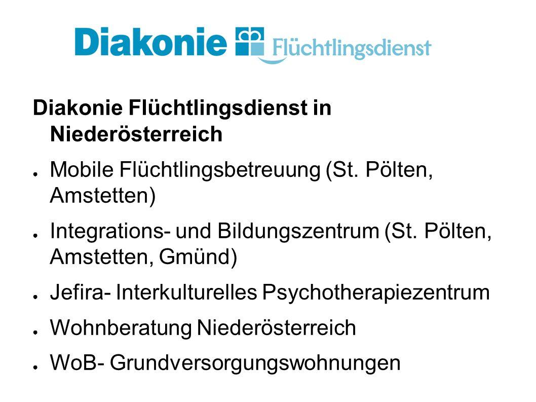 Diakonie Flüchtlingsdienst in Niederösterreich ● Mobile Flüchtlingsbetreuung (St.