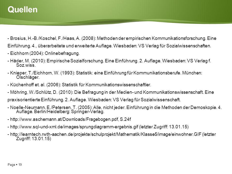 Page  19 Quellen - Brosius, H.-B./Koschel, F./Haas, A.