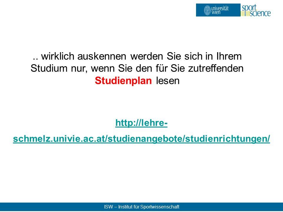 ISW – Institut für Sportwissenschaft..