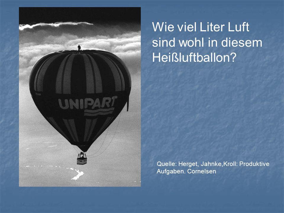 Wie viel Liter Luft sind wohl in diesem Heißluftballon.