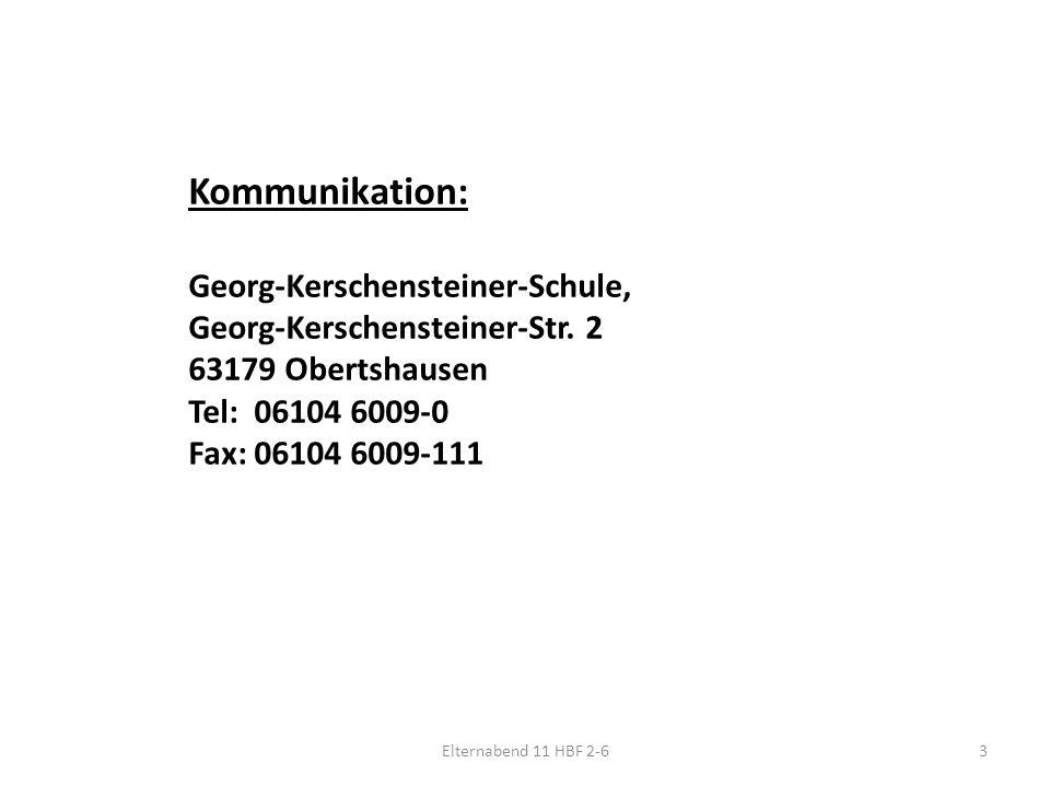 3 Kommunikation: Georg-Kerschensteiner-Schule, Georg-Kerschensteiner-Str.