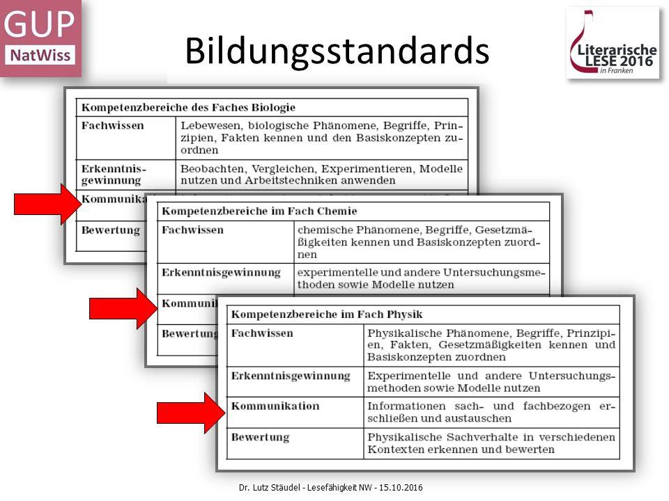 Bildungsstandards Dr. Lutz Stäudel - Lesefähigkeit NW - 15.10.2016