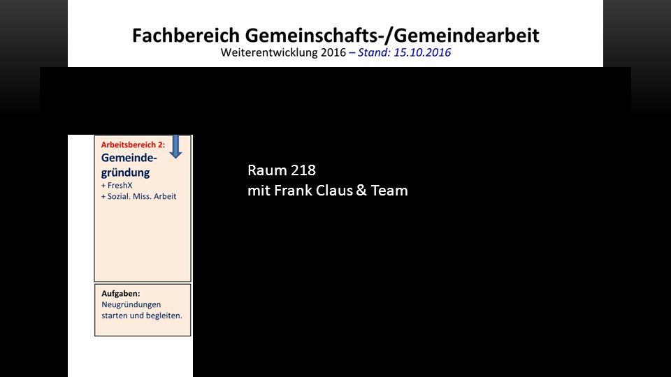 Raum 218 mit Frank Claus & Team