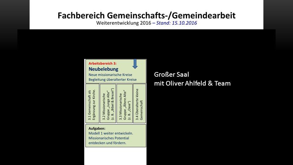 Großer Saal mit Oliver Ahlfeld & Team