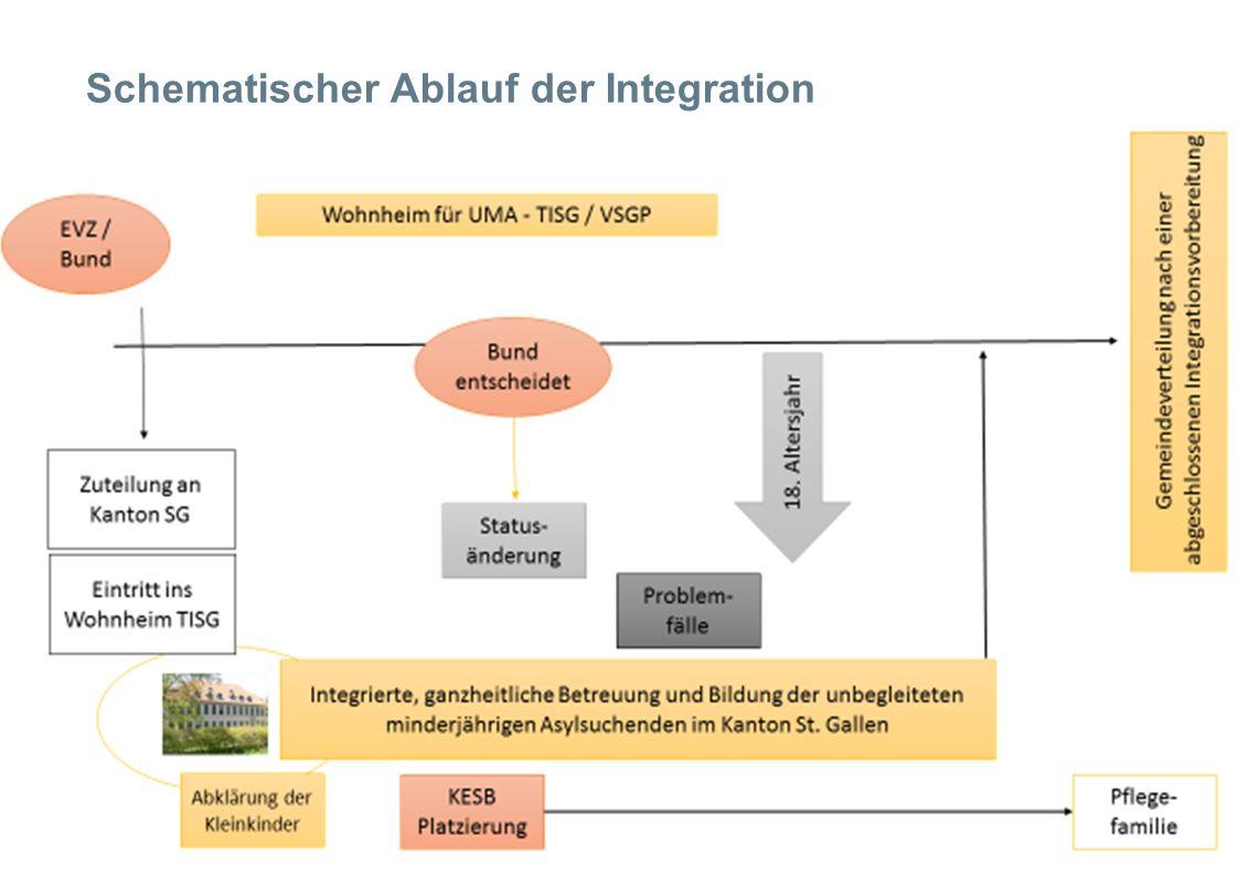 Schematischer Ablauf der Integration