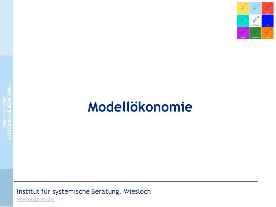 Modellökonomie Institut für systemische Beratung, Wiesloch www.isb-w.de