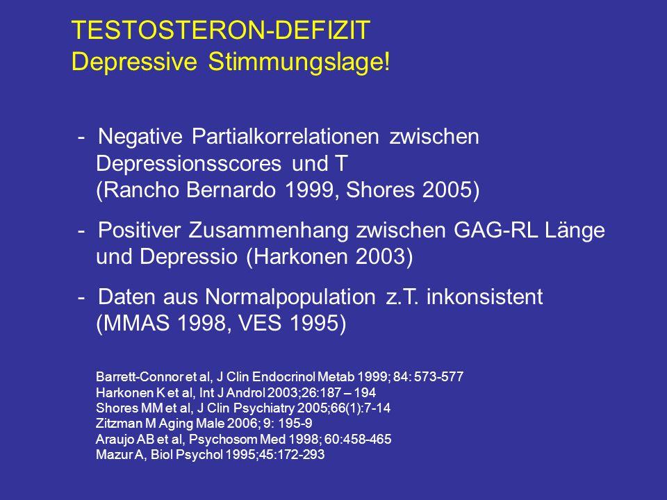 TESTOSTERON-DEFIZIT Depressive Stimmungslage.
