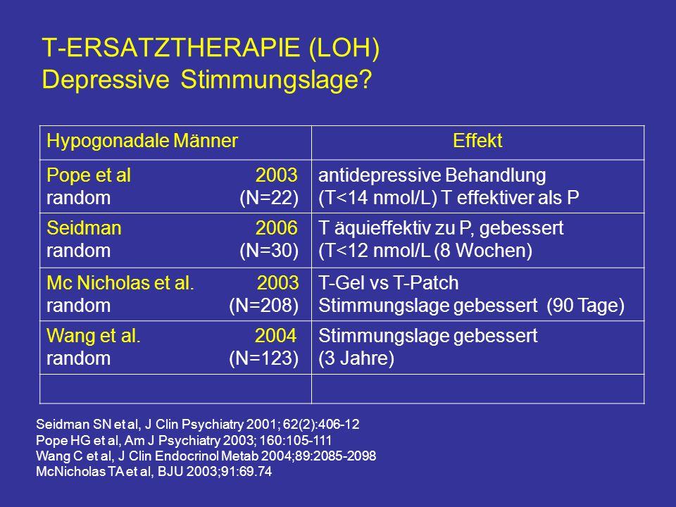 T-ERSATZTHERAPIE (LOH) Depressive Stimmungslage.