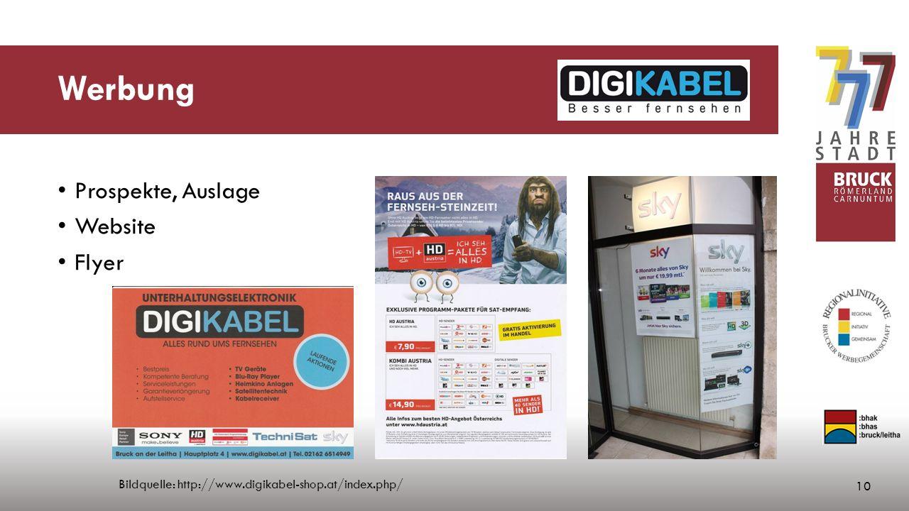 Werbung Prospekte, Auslage Website Flyer 10 Bildquelle: http://www.digikabel-shop.at/index.php/
