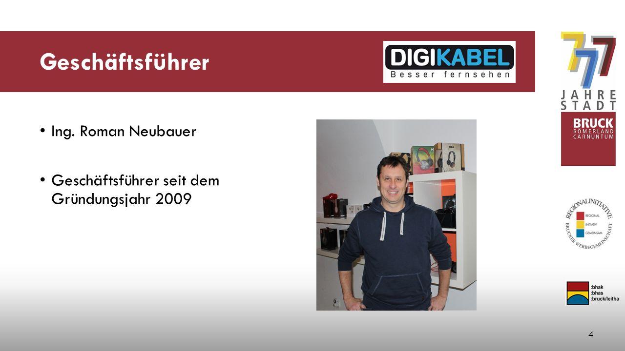 Geschäftsführer Ing. Roman Neubauer Geschäftsführer seit dem Gründungsjahr 2009 4