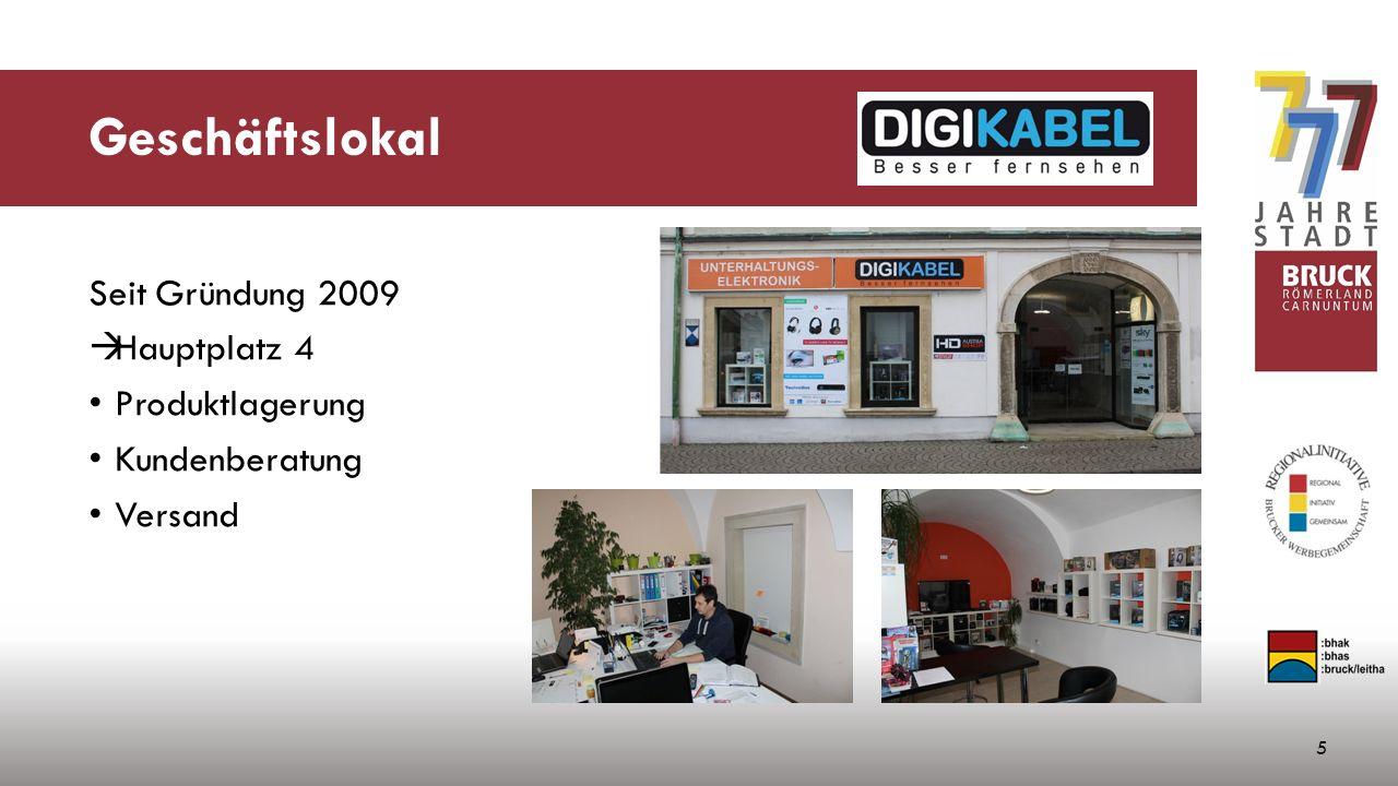 Geschäftslokal 5 Seit Gründung 2009  Hauptplatz 4 Produktlagerung Kundenberatung Versand