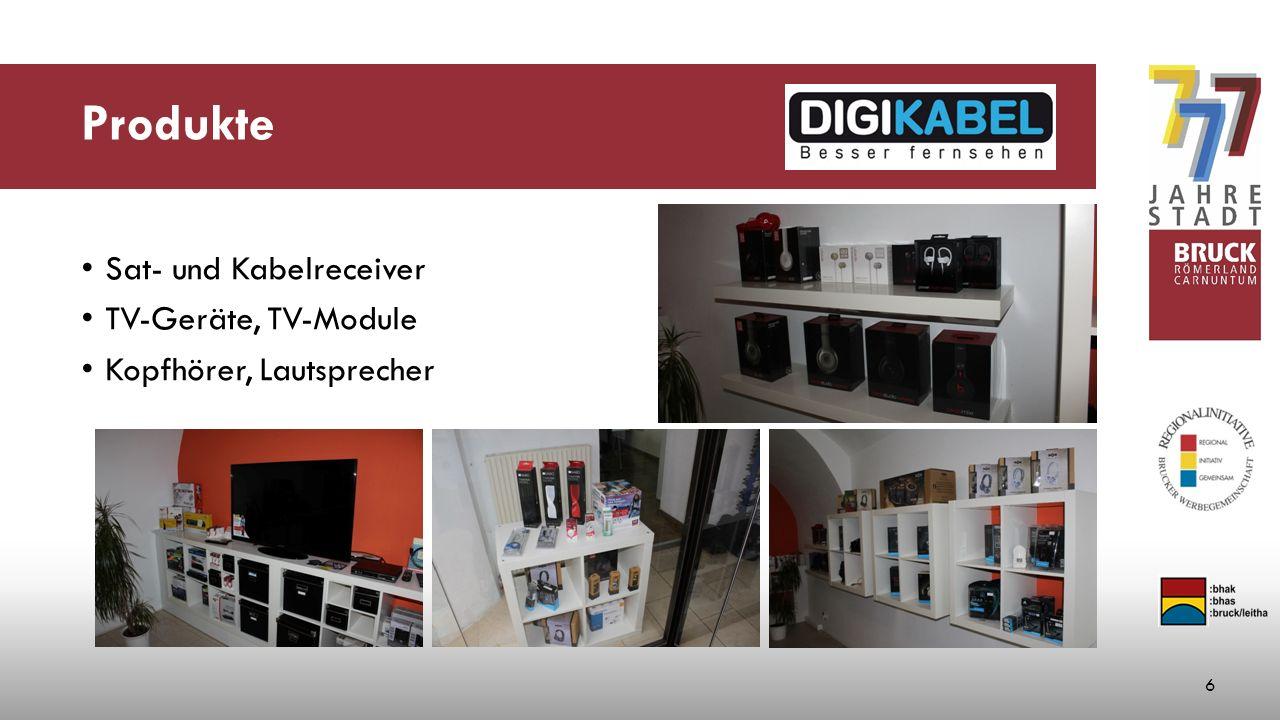 Produkte Sat- und Kabelreceiver TV-Geräte, TV-Module Kopfhörer, Lautsprecher 6