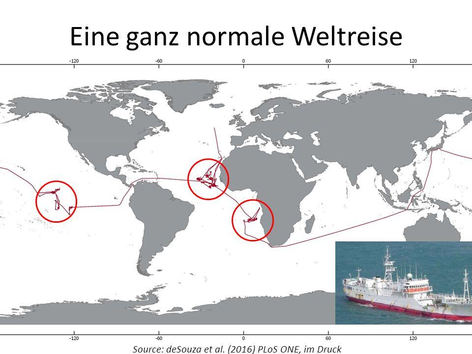 Eine ganz normale Weltreise Source: deSouza et al. (2016) PLoS ONE, im Druck