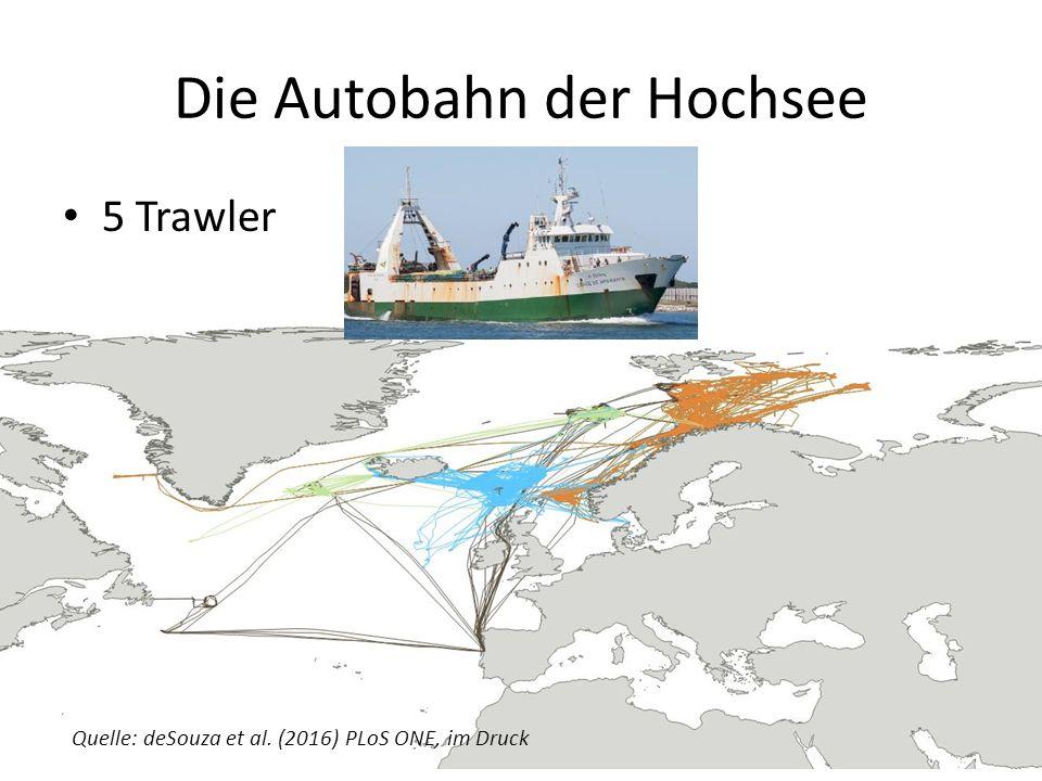 Die Autobahn der Hochsee 5 Trawler Quelle: deSouza et al. (2016) PLoS ONE, im Druck
