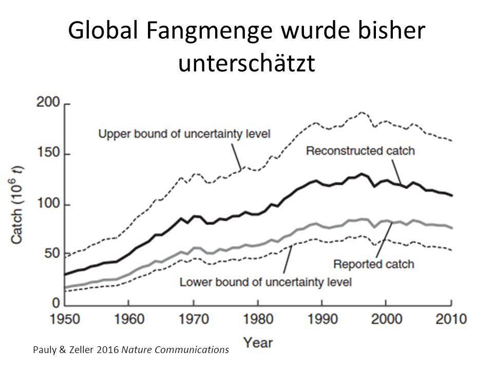 Global Fangmenge wurde bisher unterschätzt Pauly & Zeller 2016 Nature Communications