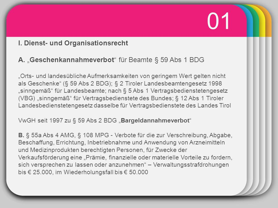 WINTER Template 01 I. Dienst- und Organisationsrecht A.