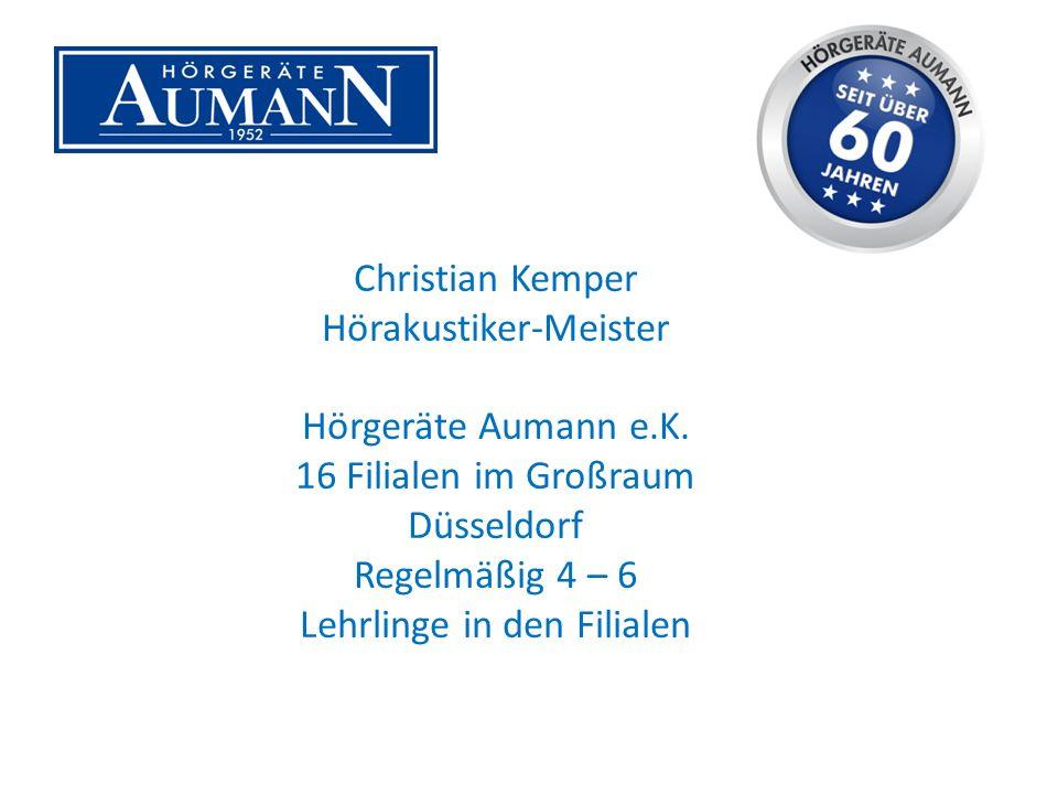 Christian Kemper Hörakustiker-Meister Hörgeräte Aumann e.K.