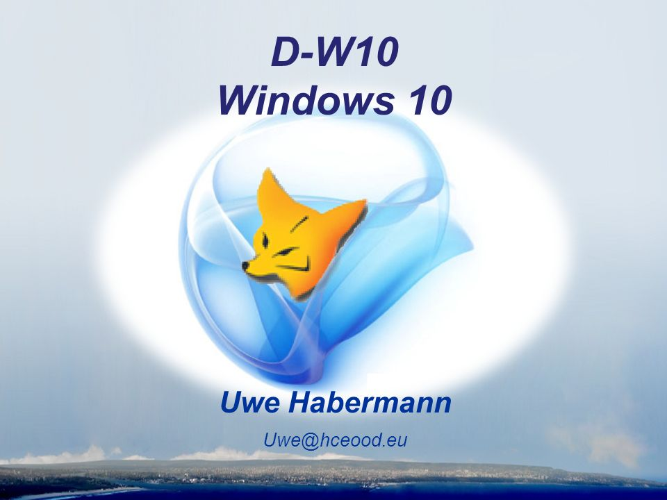 Uwe Habermann D-W10 Windows 10