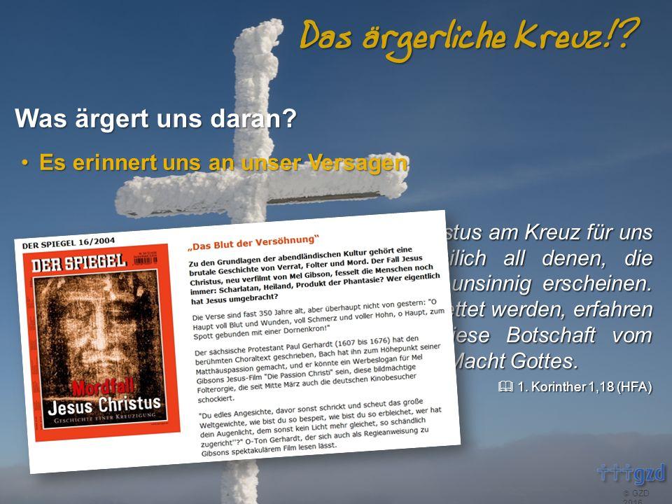  GZD 2016 Das ärgerliche Kreuz!.