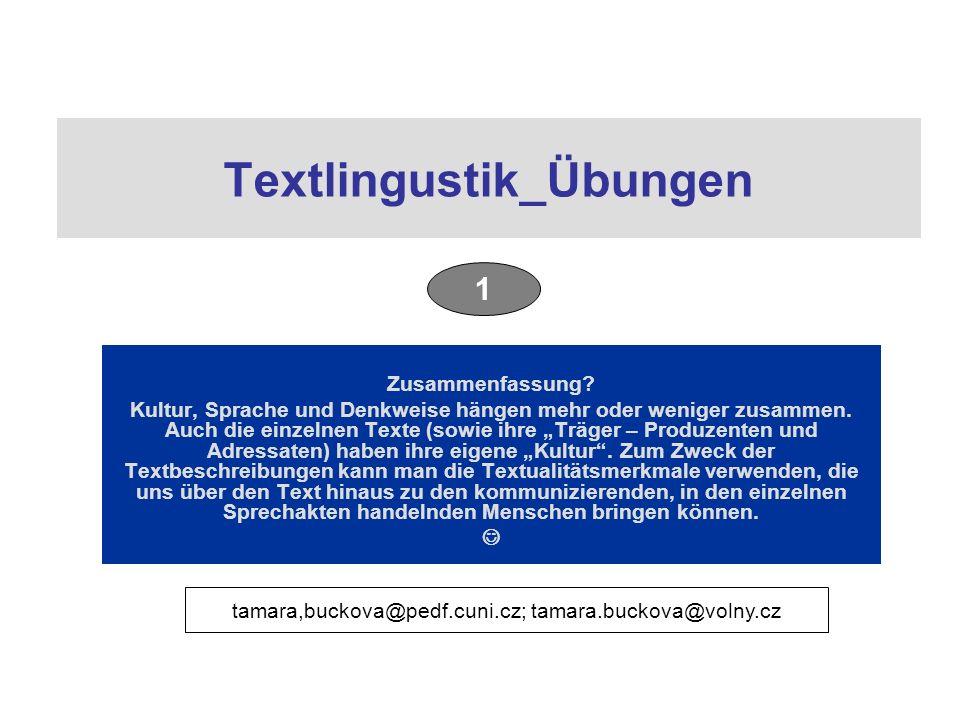 Textlingustik_Übungen Zusammenfassung.