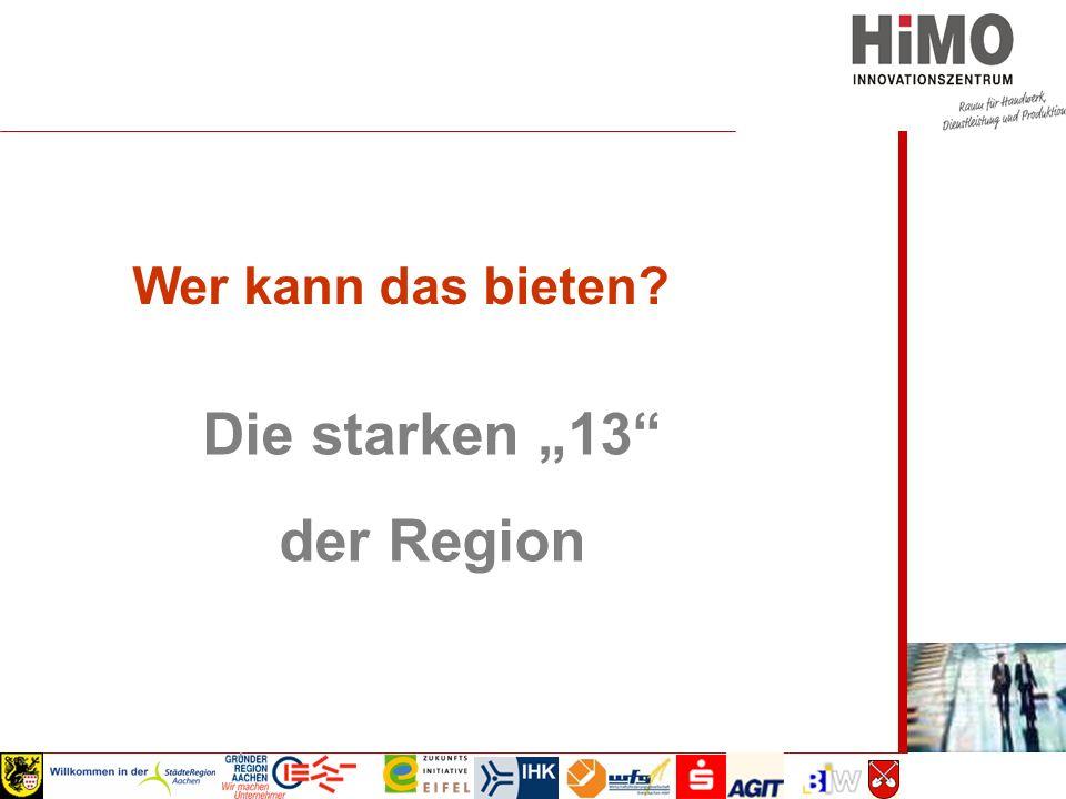 """Wirtschaftsausschuss 2008 Die starken """"13 der Region Wer kann das bieten"""