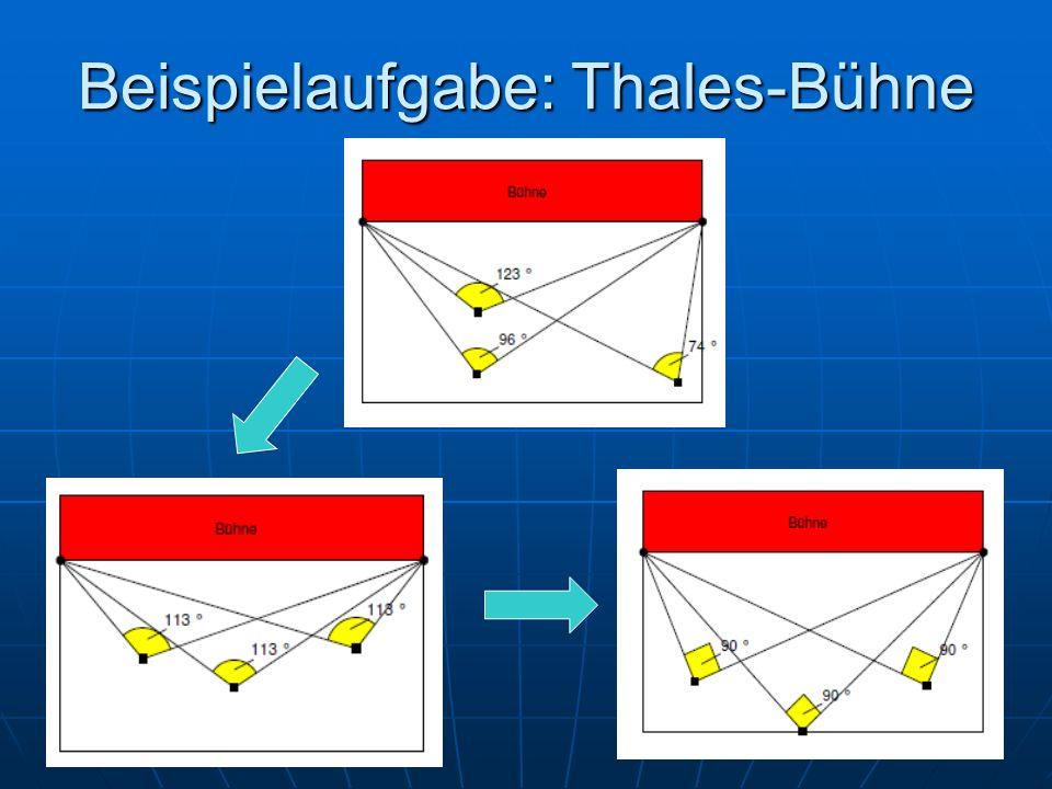 Beispielaufgabe: Thales-Bühne