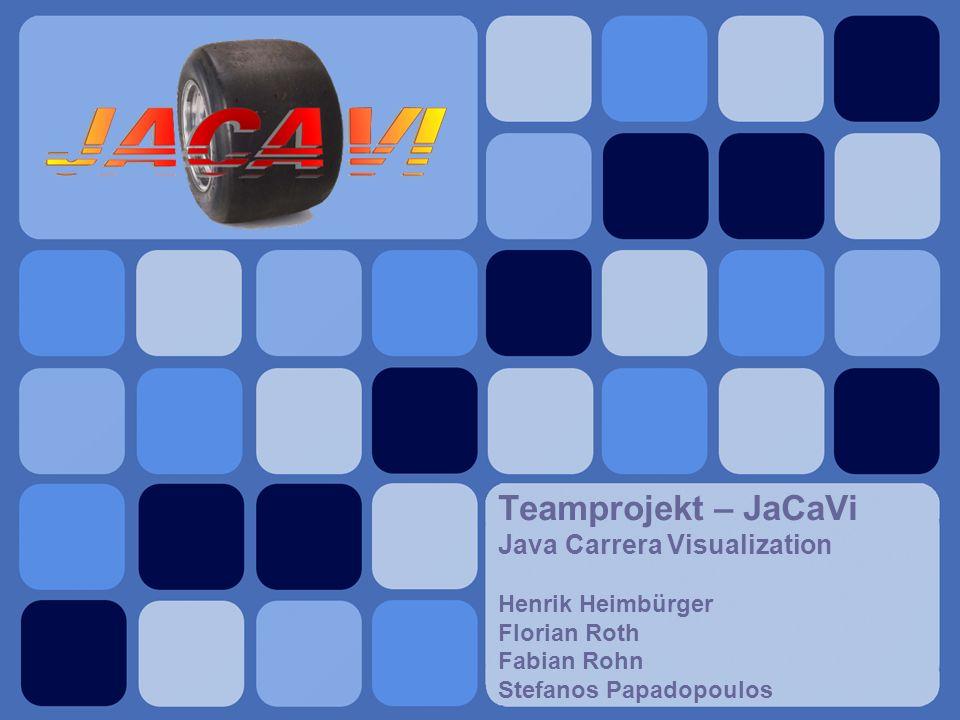 Teamprojekt – JaCaVi Java Carrera Visualization Henrik Heimbürger Florian Roth Fabian Rohn Stefanos Papadopoulos