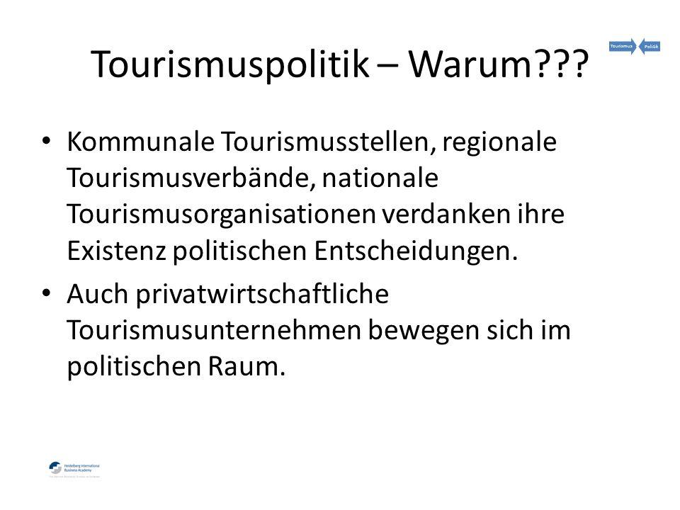 Tourismuspolitik – Warum .