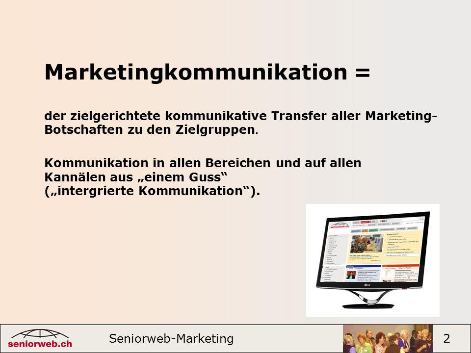 """Marketingkommunikation = Kommunikation in allen Bereichen und auf allen Kannälen aus """"einem Guss (""""intergrierte Kommunikation )."""
