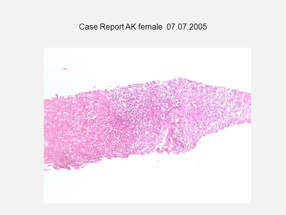 Case Report AK female 07.07.2005