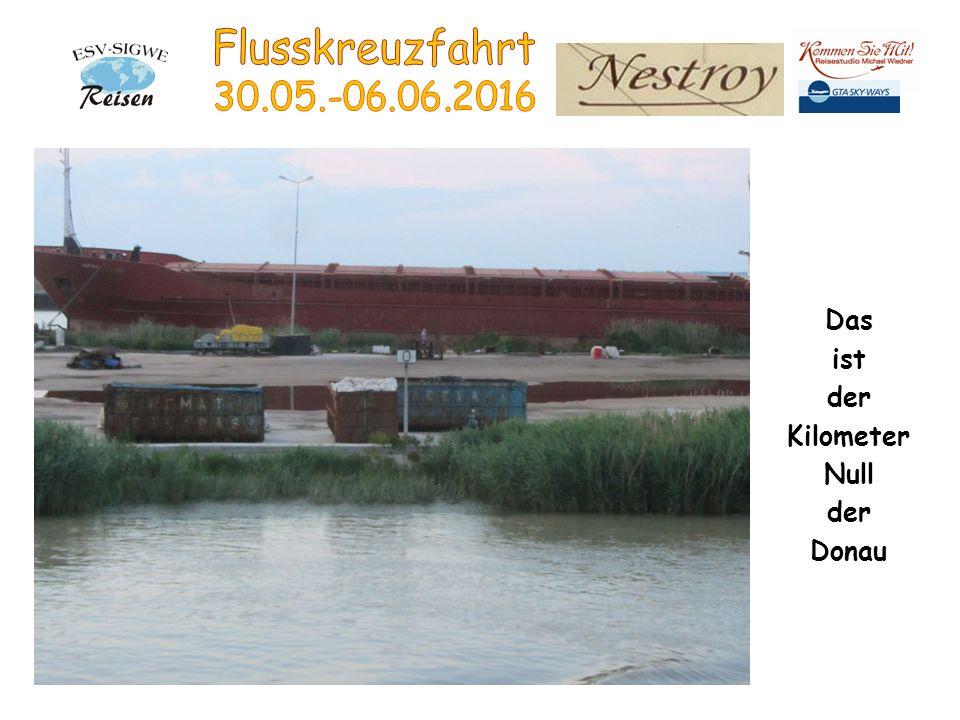 Das ist der Kilometer Null der Donau