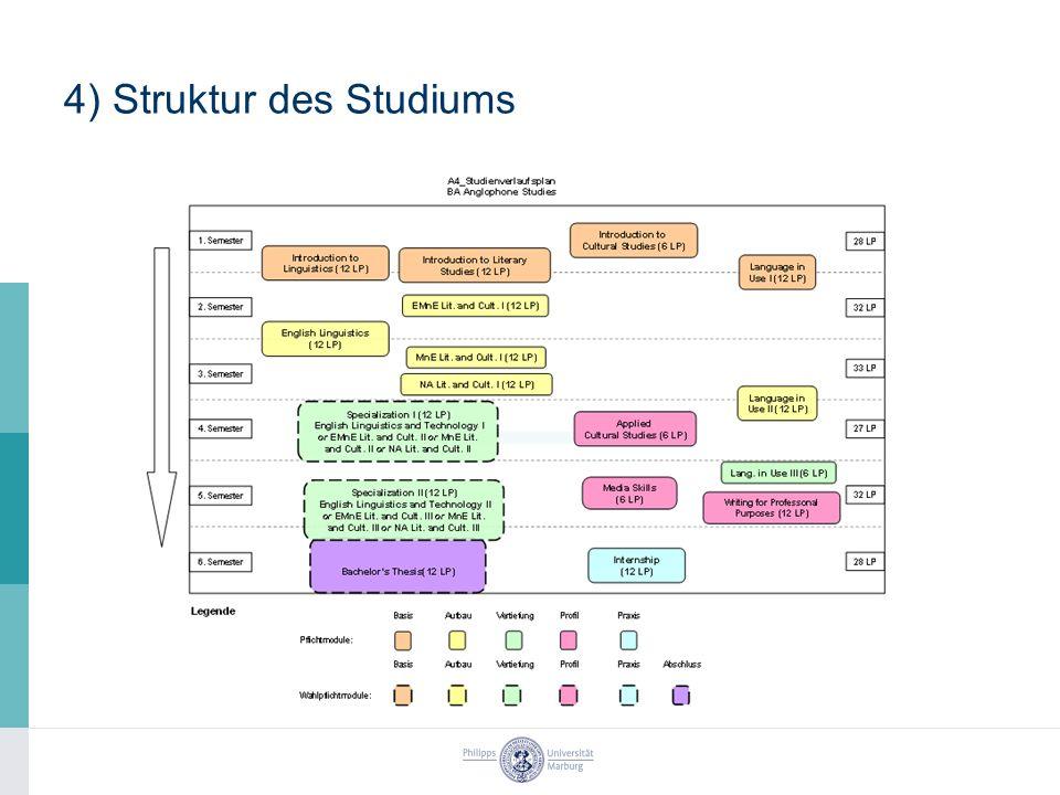 4) Struktur des Studiums