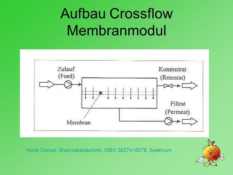 Aufbau Crossflow Membranmodul Horst Chmiel, Bioprozesstechnik, ISBN 3827416078, Spektrum