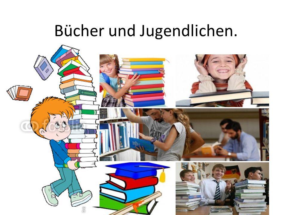 Bücher und Jugendlichen.
