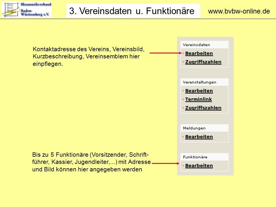 www.bvbw-online.de 3. Vereinsdaten u.