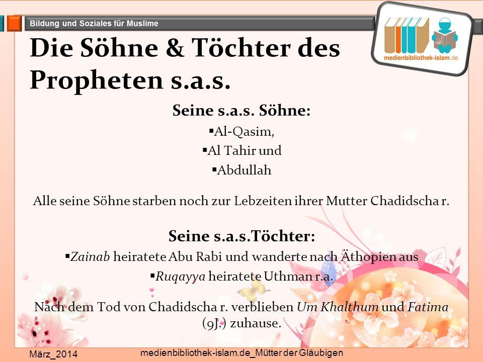 Die Söhne & Töchter des Propheten s.a.s.