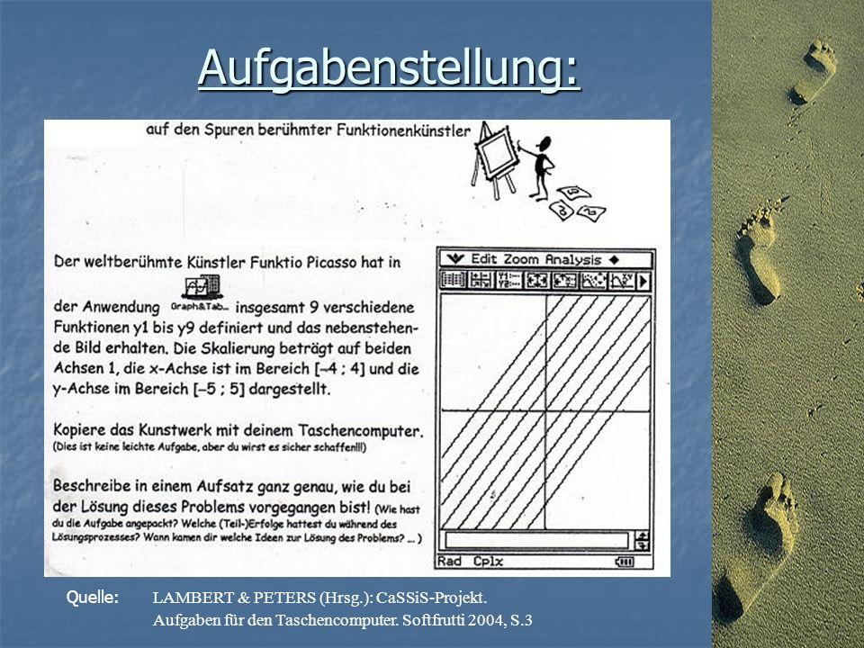 Aufgabenstellung: Quelle: LAMBERT & PETERS (Hrsg.): CaSSiS-Projekt.