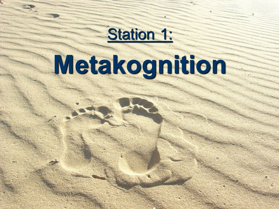 Station 1: Metakognition