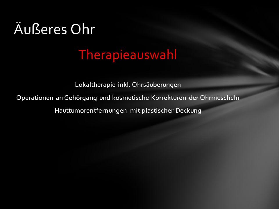 Therapieauswahl Lokaltherapie inkl.