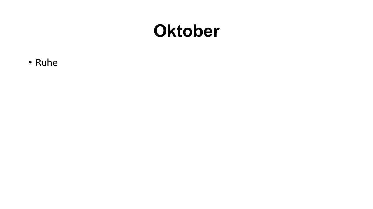 Oktober Ruhe