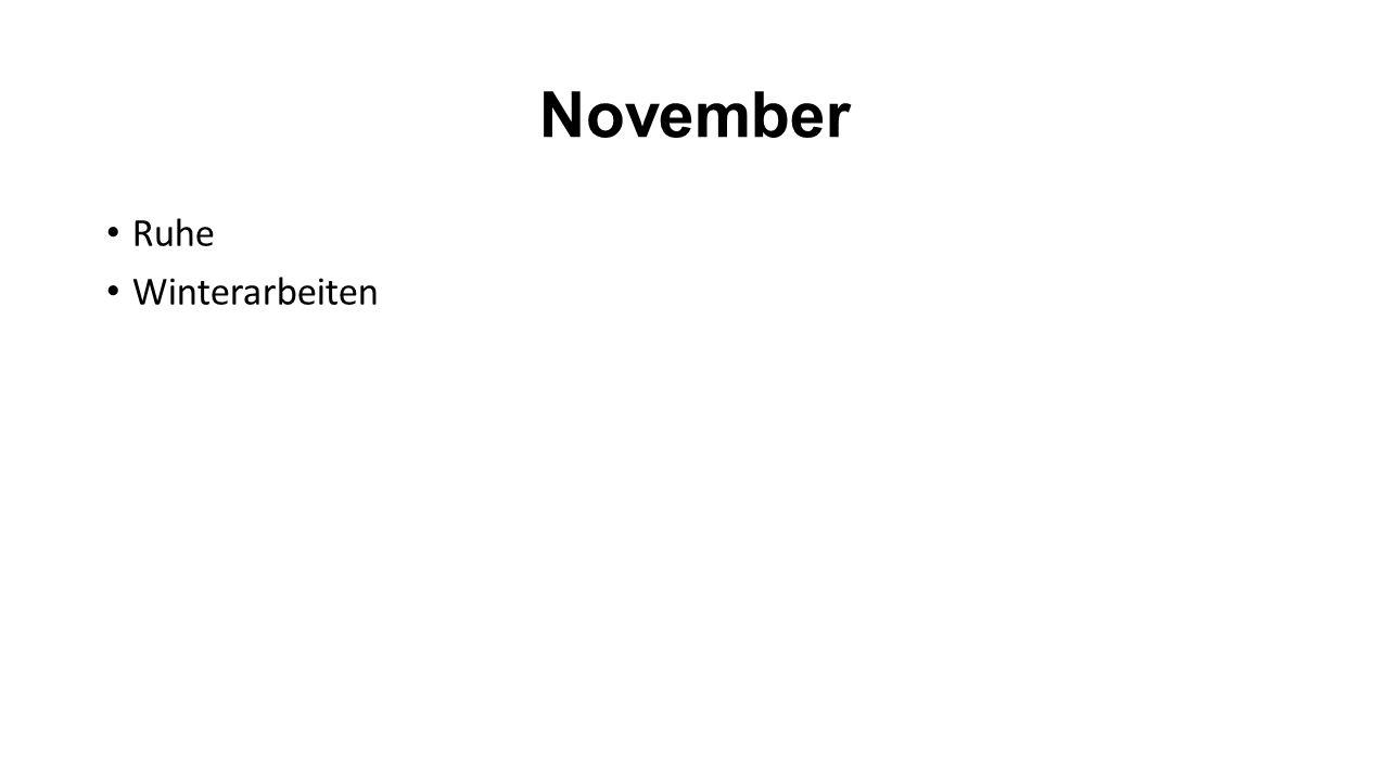 November Ruhe Winterarbeiten