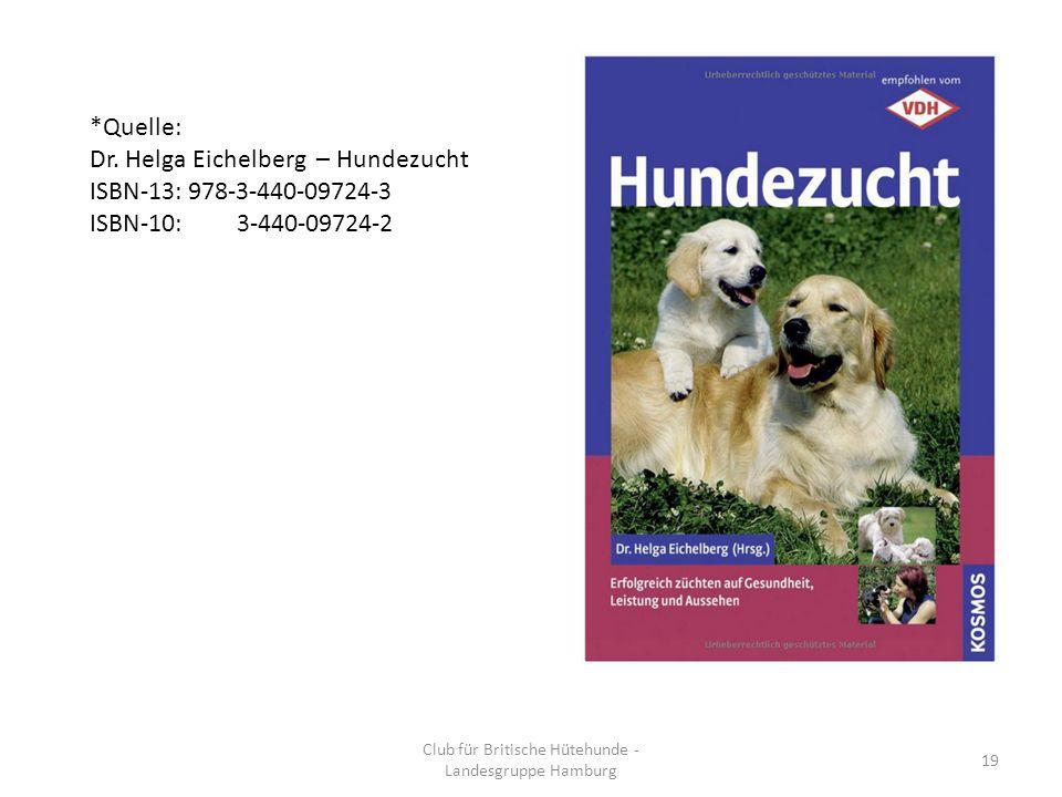 Club für Britische Hütehunde - Landesgruppe Hamburg 19 *Quelle: Dr.