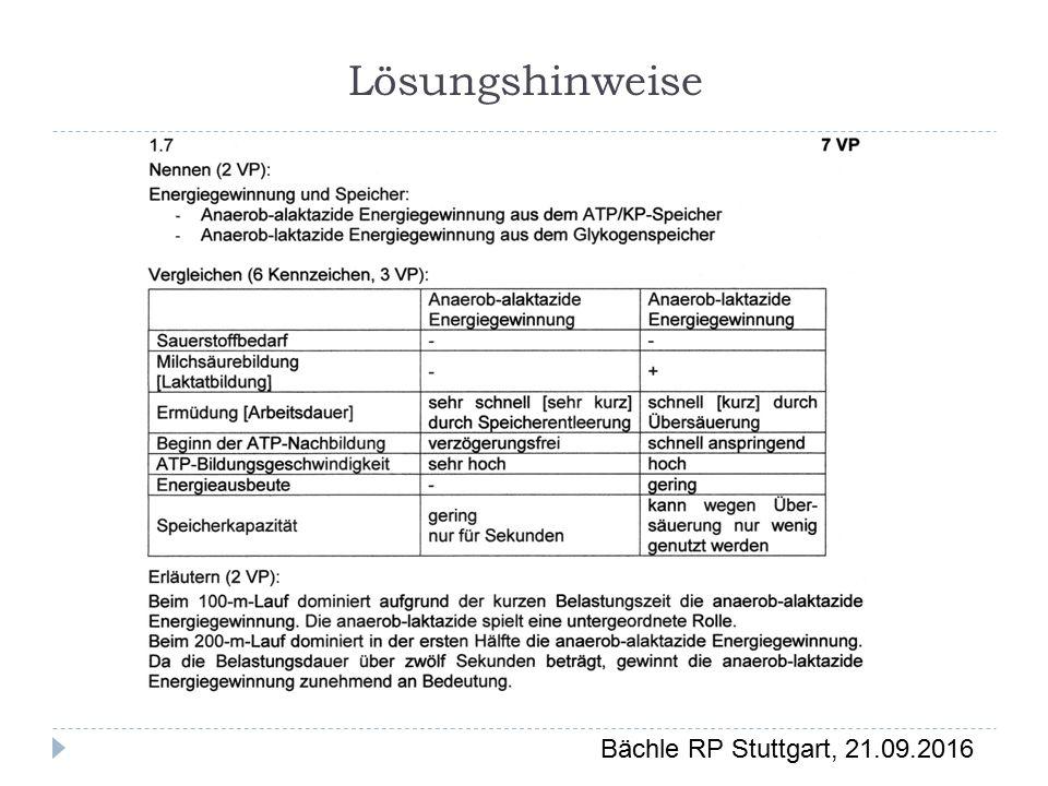 Bächle RP Stuttgart, 21.09.2016 Lösungshinweise